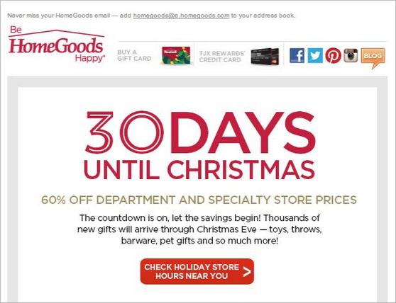 Der Countdown erinnert die Kunden, den Online Shop jetzt zu besuchen